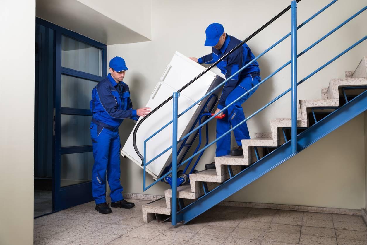 Livraison sans ascenseur outils diable